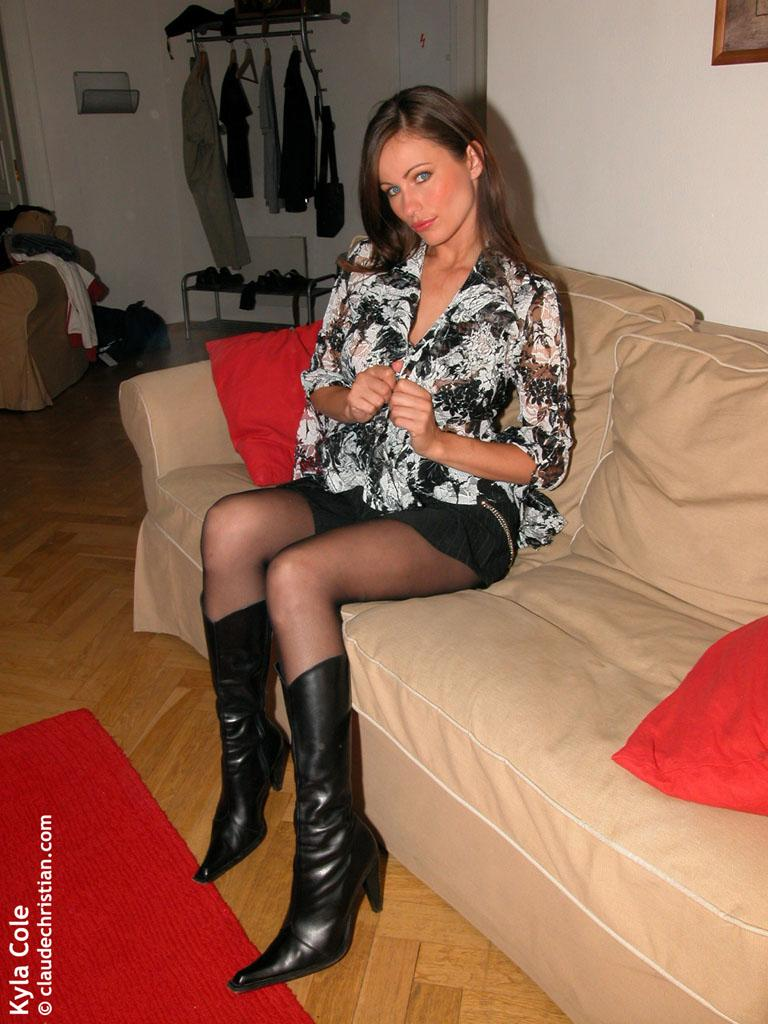 Kyla cole tied up in pantyhose