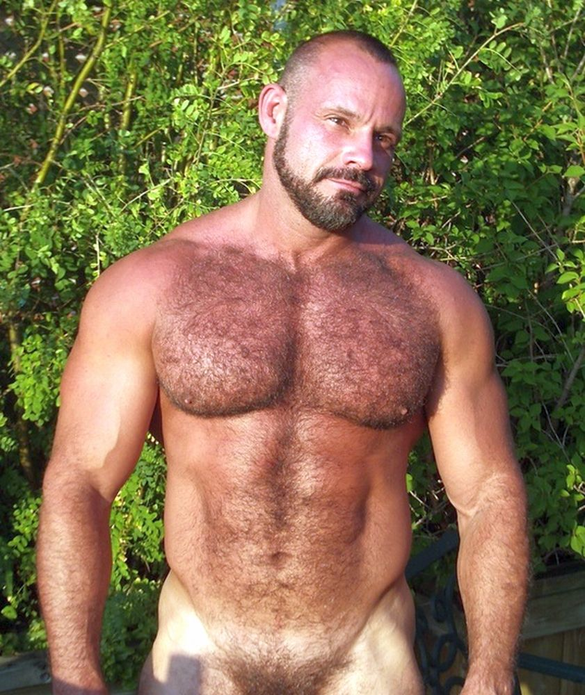 hairy men naked Hot muscle