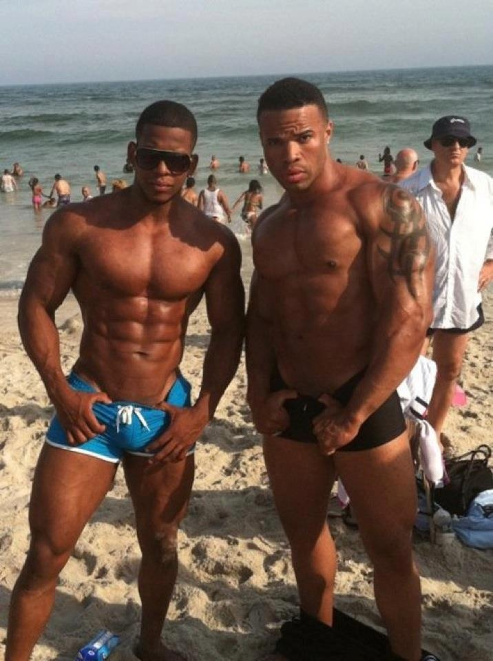 men gay muscle Big black