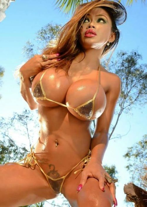 Tops tank thong big breasts in