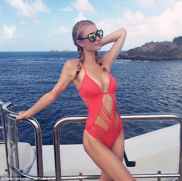 Paris hilton bathing suit