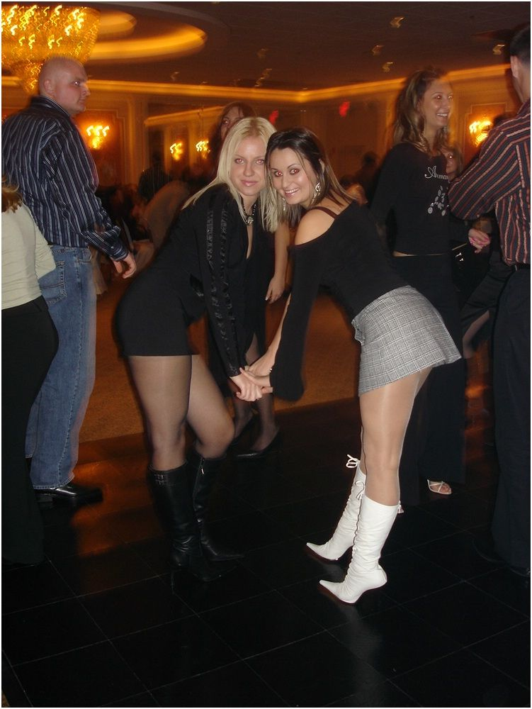 Sexy pantyhose party