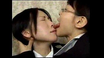 Asian lesbian japanese girl kissing