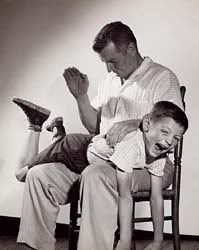Bad boys getting spanked