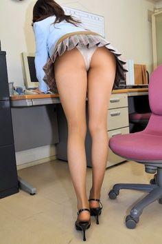Office girl upskirt