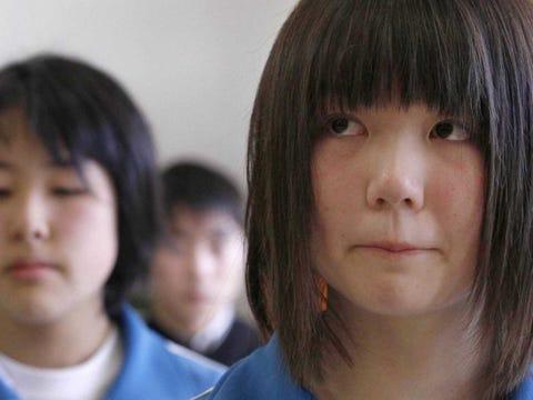 Natural japanese teens