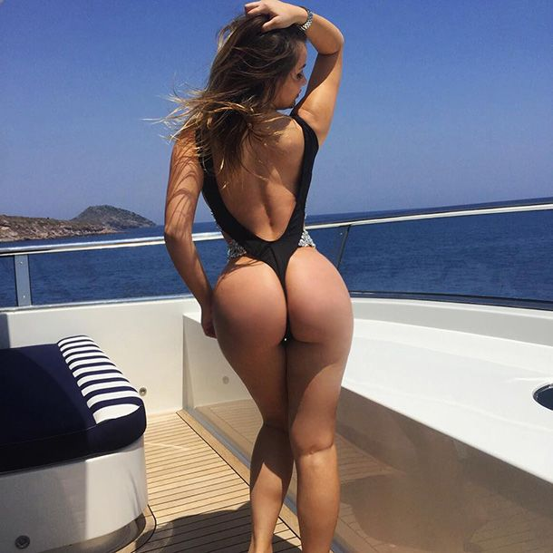 Hot girl ass in thong