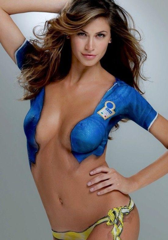Natalie gulbis body paint nipple