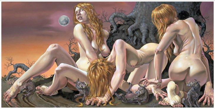 Erotic nude fantasy art