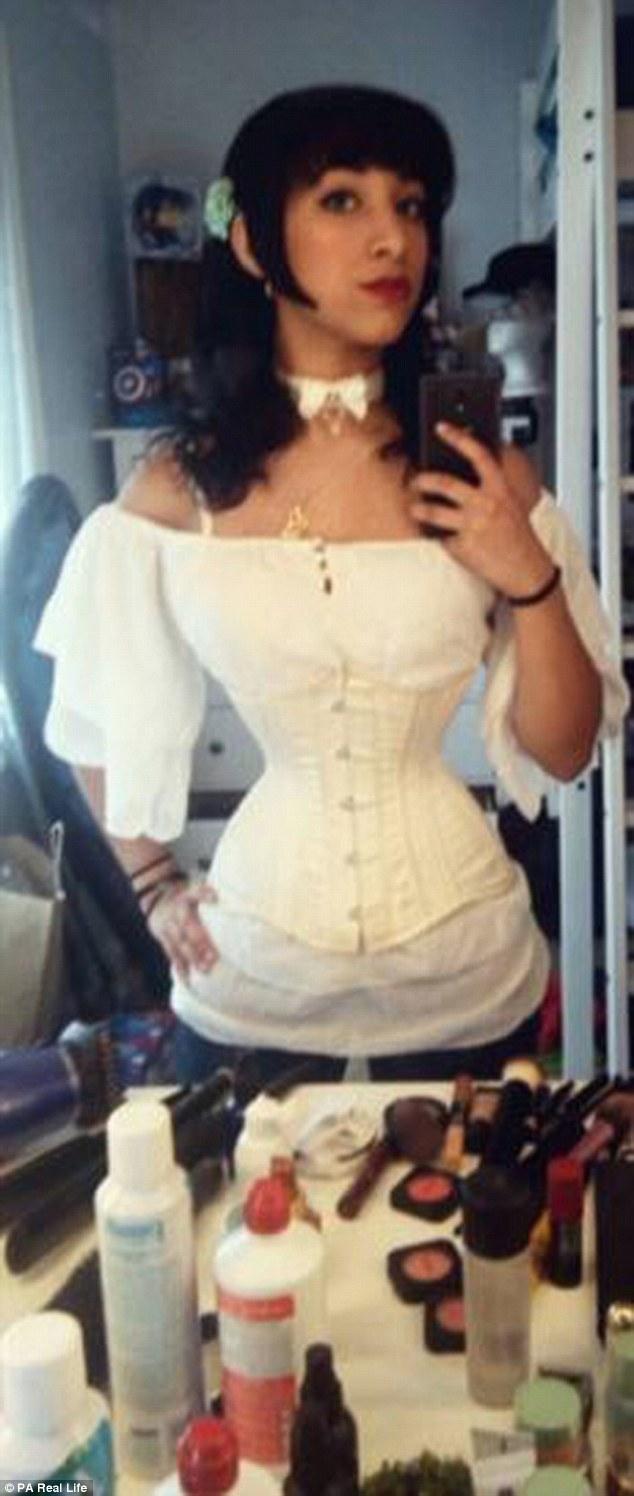 over corset bent Secretary