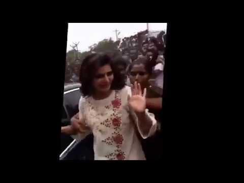 Mallu actress boob press