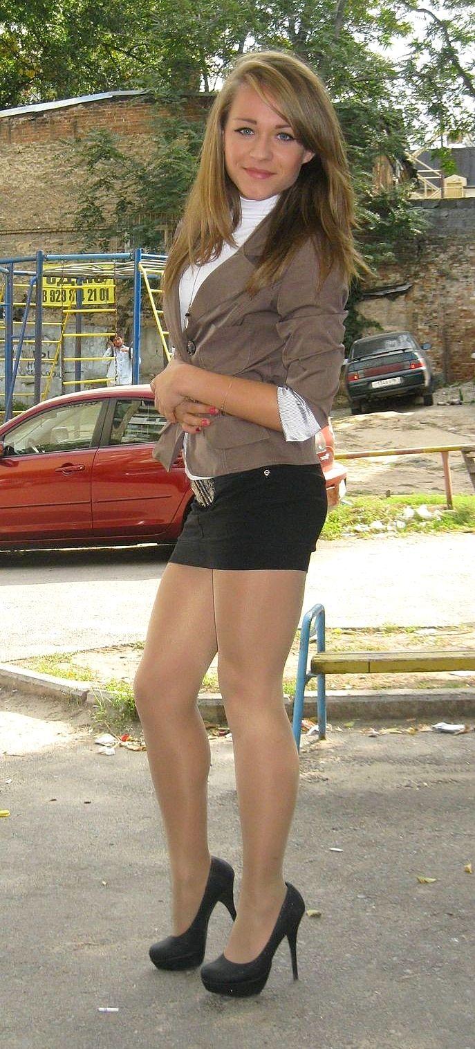 Tiffany teen in tight skirts