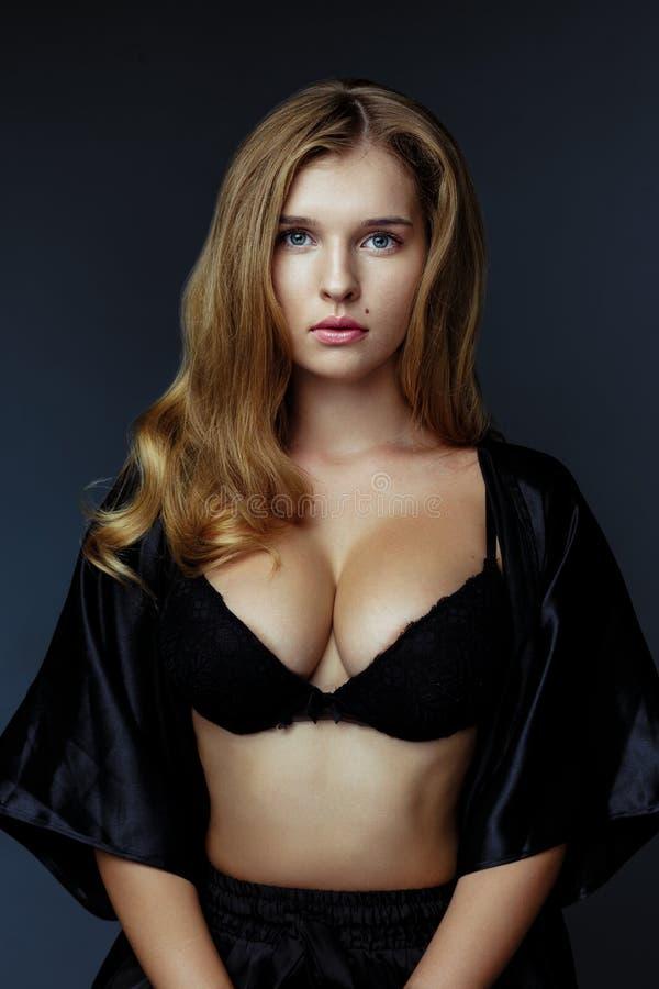 Beautiful blonde woman big boobs