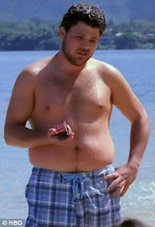 Chubby boy shirtless