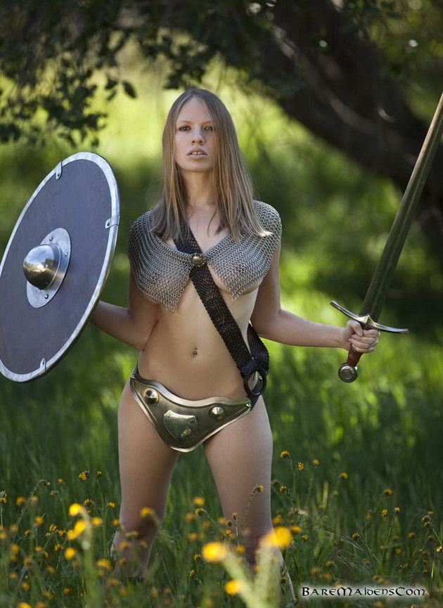 Female nude warrior women