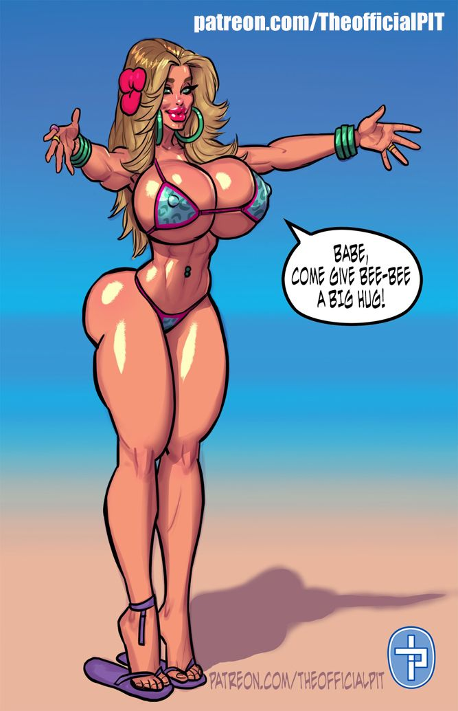 Sexy anime girl comic nude beach