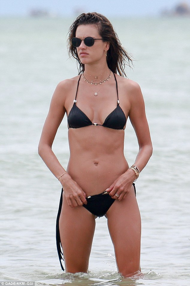 Lilly bound and beautiful tiny string bikini