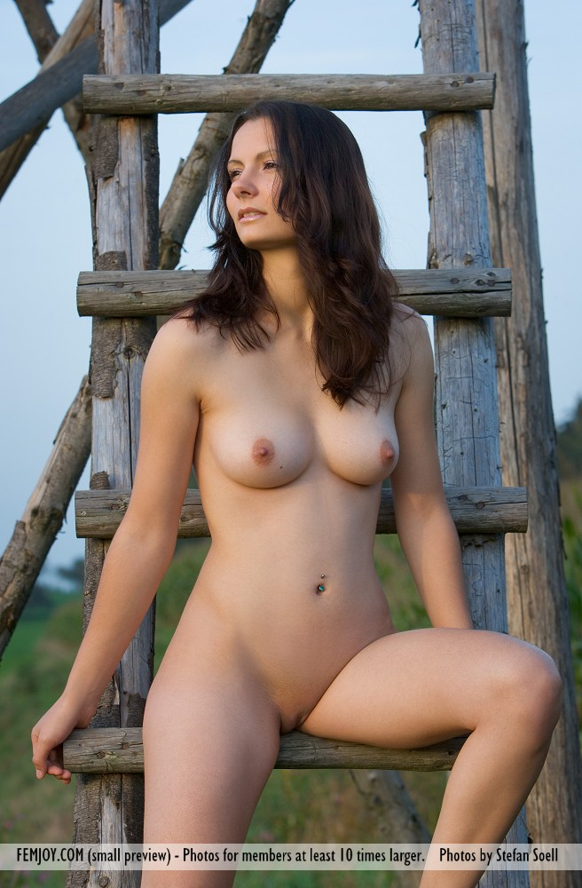 Sexy naked girl hunting