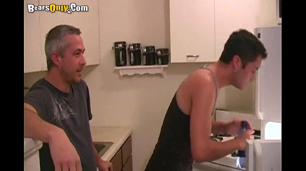 Gay dad and son threesome