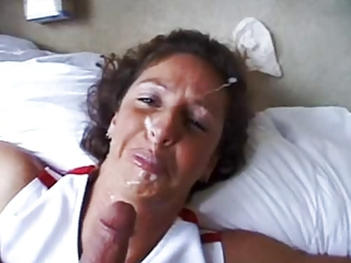 Homemade amateur cum facial