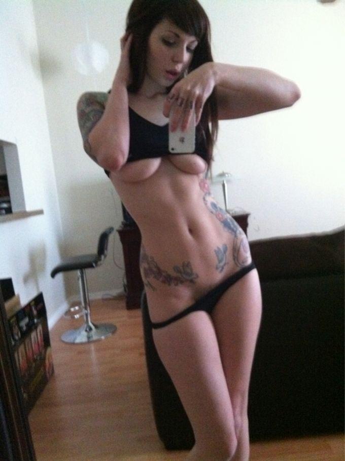 Emo girl self panties