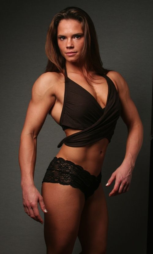 Toned muscle athletic women nude