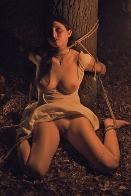 Naked girls tied