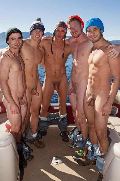 Completely naked men with boners — img 13