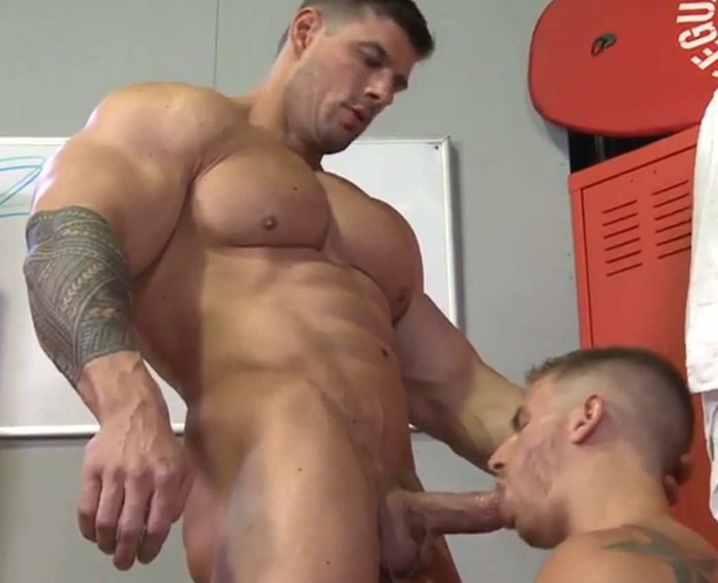 Muscle worship gay sex porn