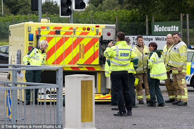 Naked female in ambulance