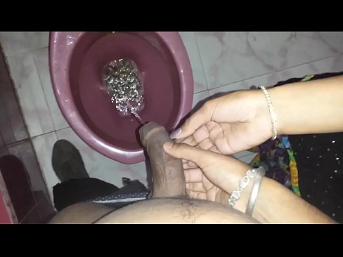 Nude women peeing on cock