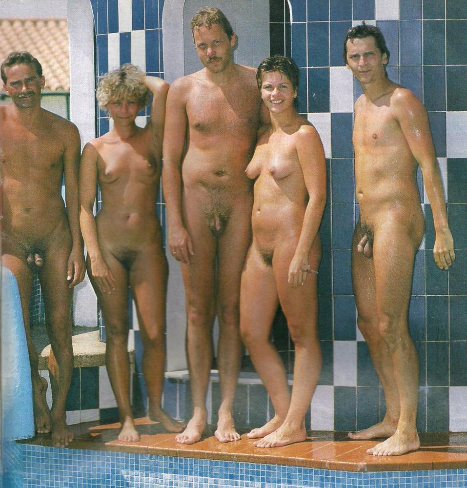Nudist family boys and girls
