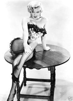 Monroe blonde black stockings