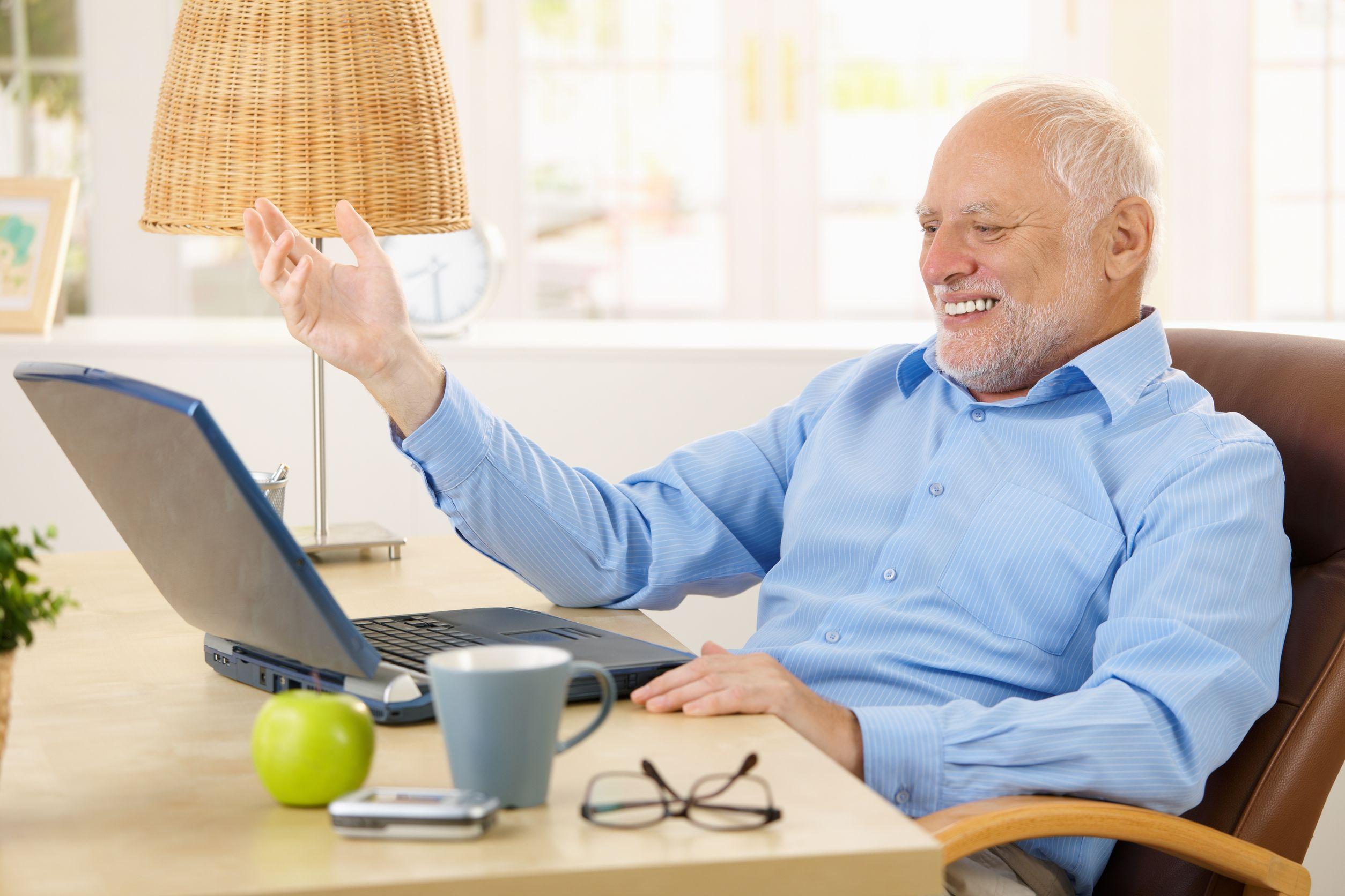 Old men watching porn