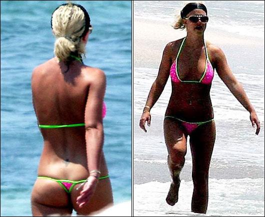 Thong bikini wedgie