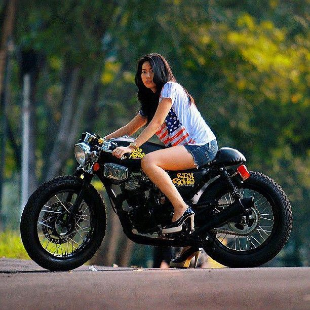 Naked girls riding motorcycles
