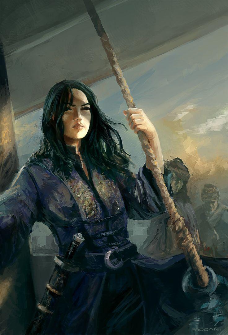 Fantasy pirate woman