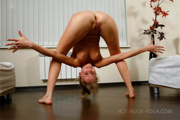 Nude yoga ass