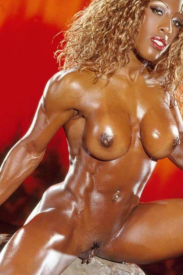 Naked female athletes bodybuilders