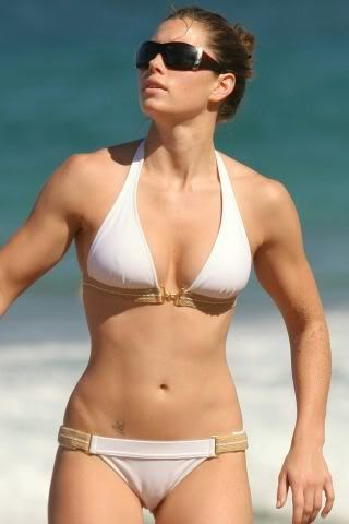 bikini white Jessica biel