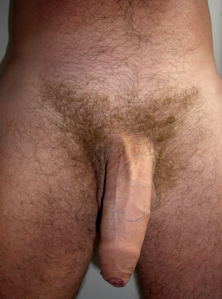 Men uncut cock close up