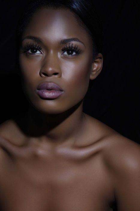 Dark skin ebony amateur