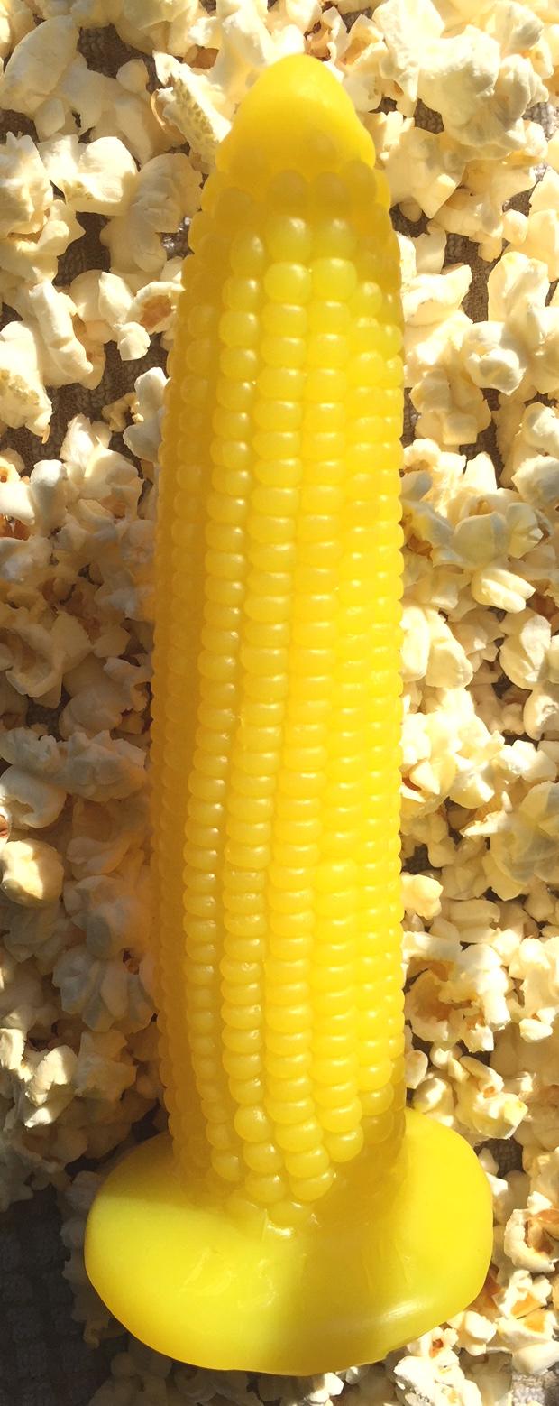 Homemade corn cob dildo