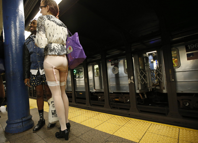 Only panties in public