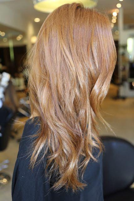 Dark strawberry blonde hair