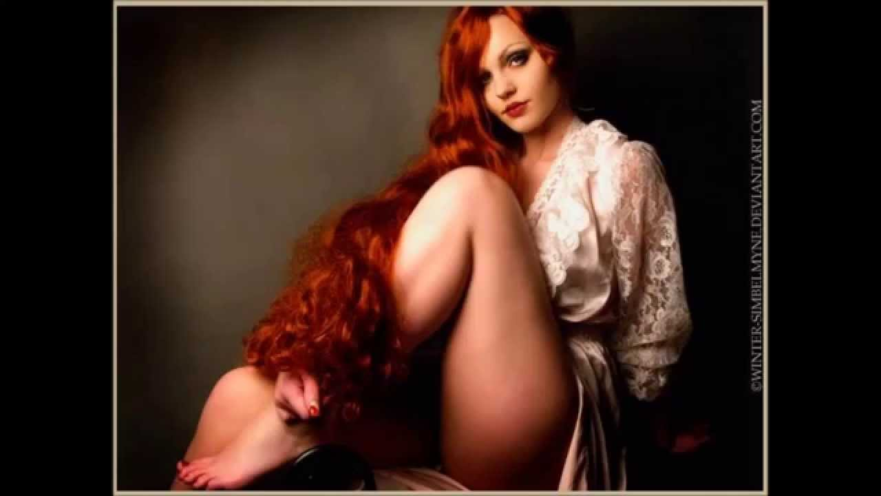 Red hair naked woman