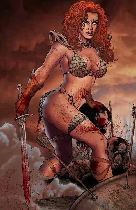 Sexy red sonja comic art