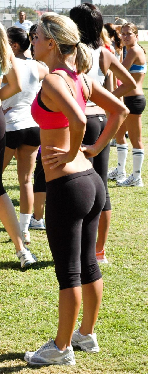 Sexy butts in yoga pants