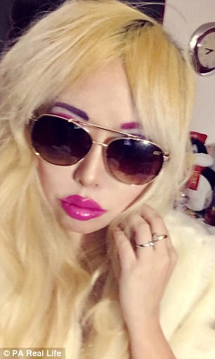Blonde curvy busty goth