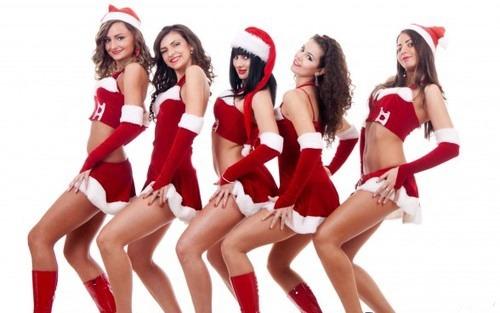 Naughty santa girls